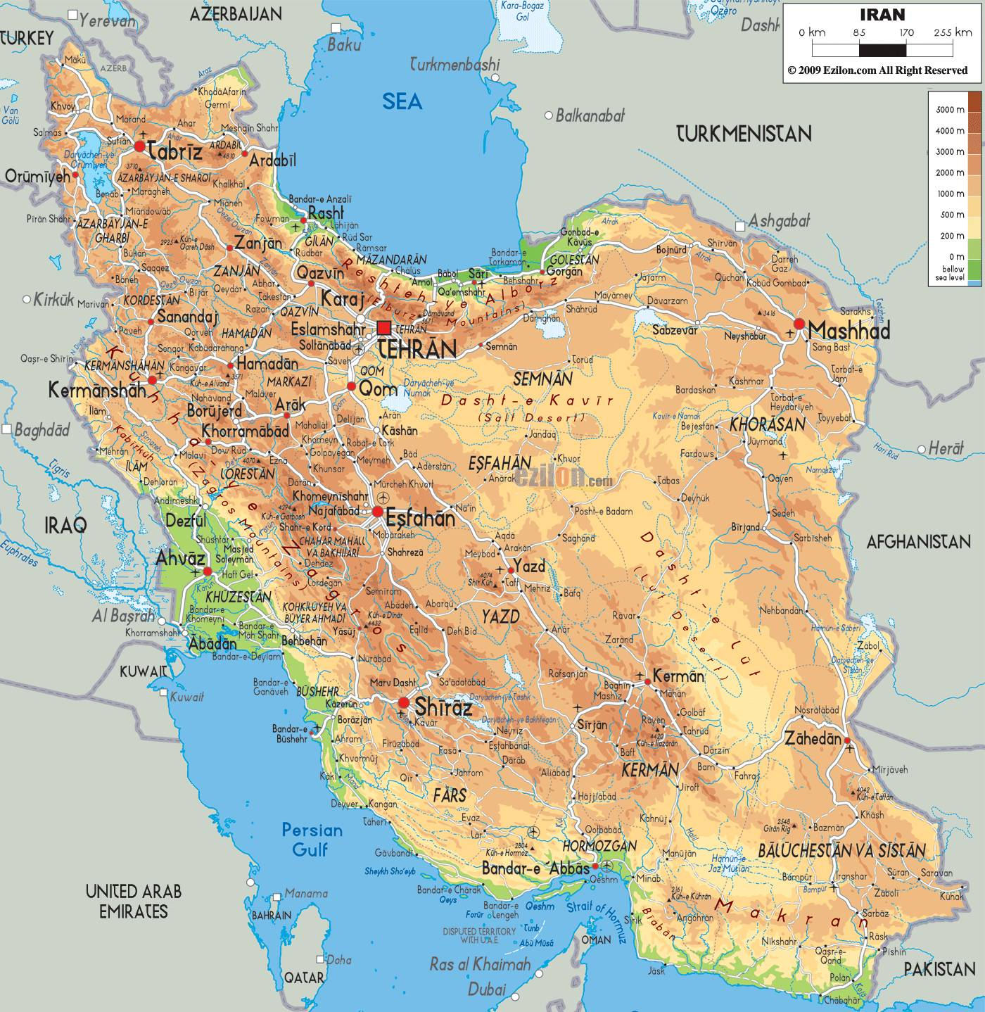 iran map - Map Pictures
