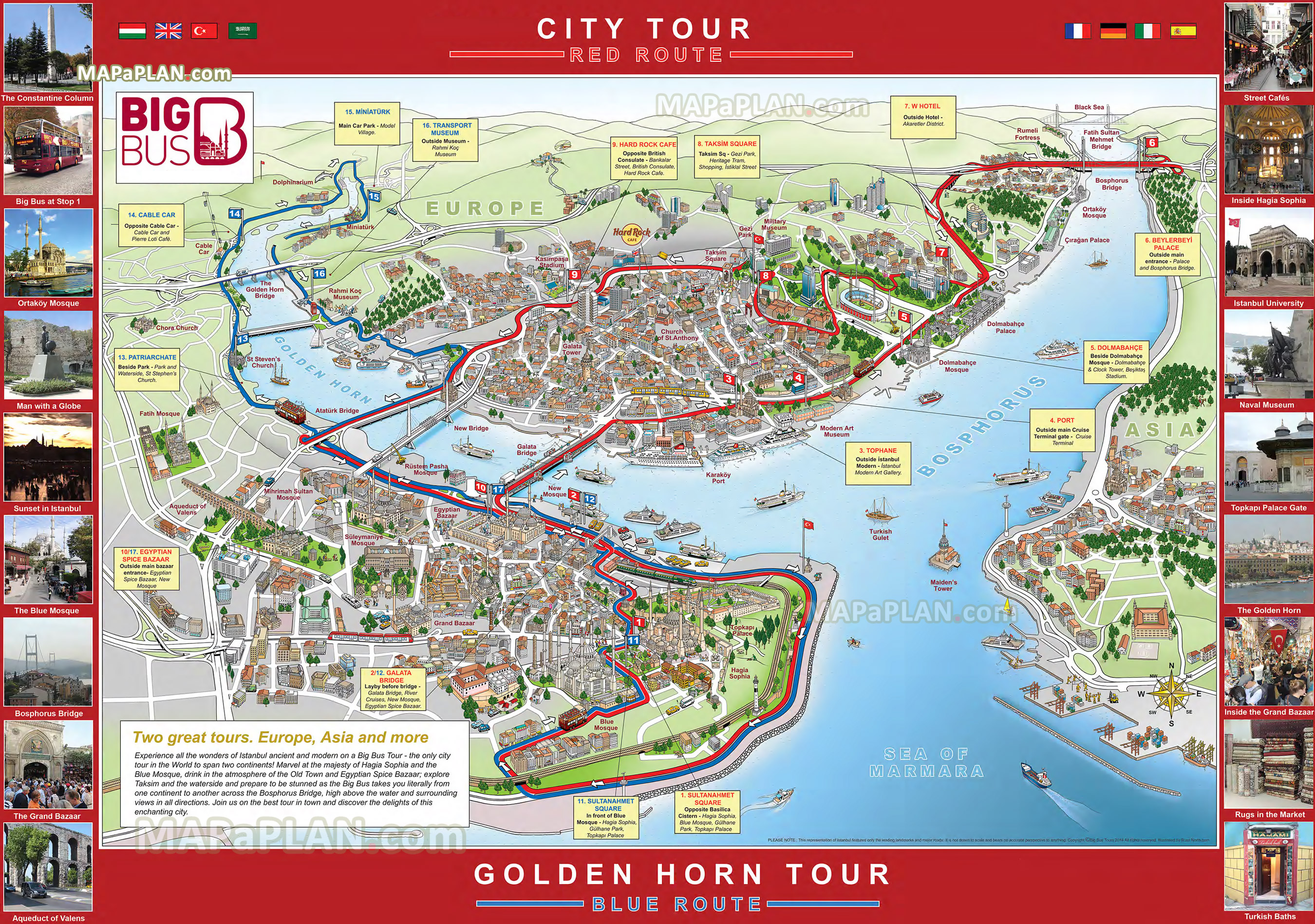 Istanbul Tourist Map Map Pictures