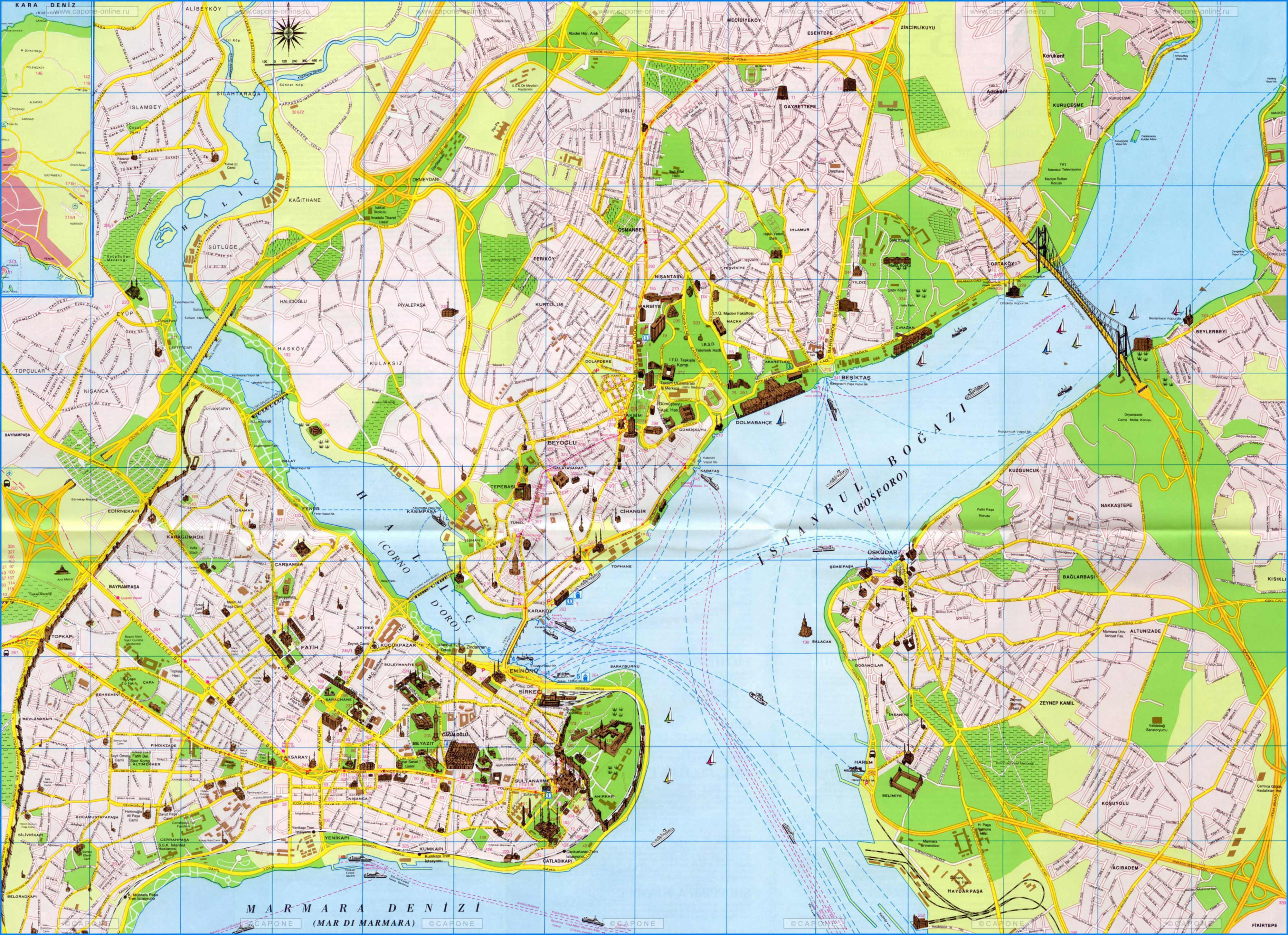 istanbul city map big - Map Pictures