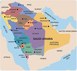 map of saudi arabia Map Pictures