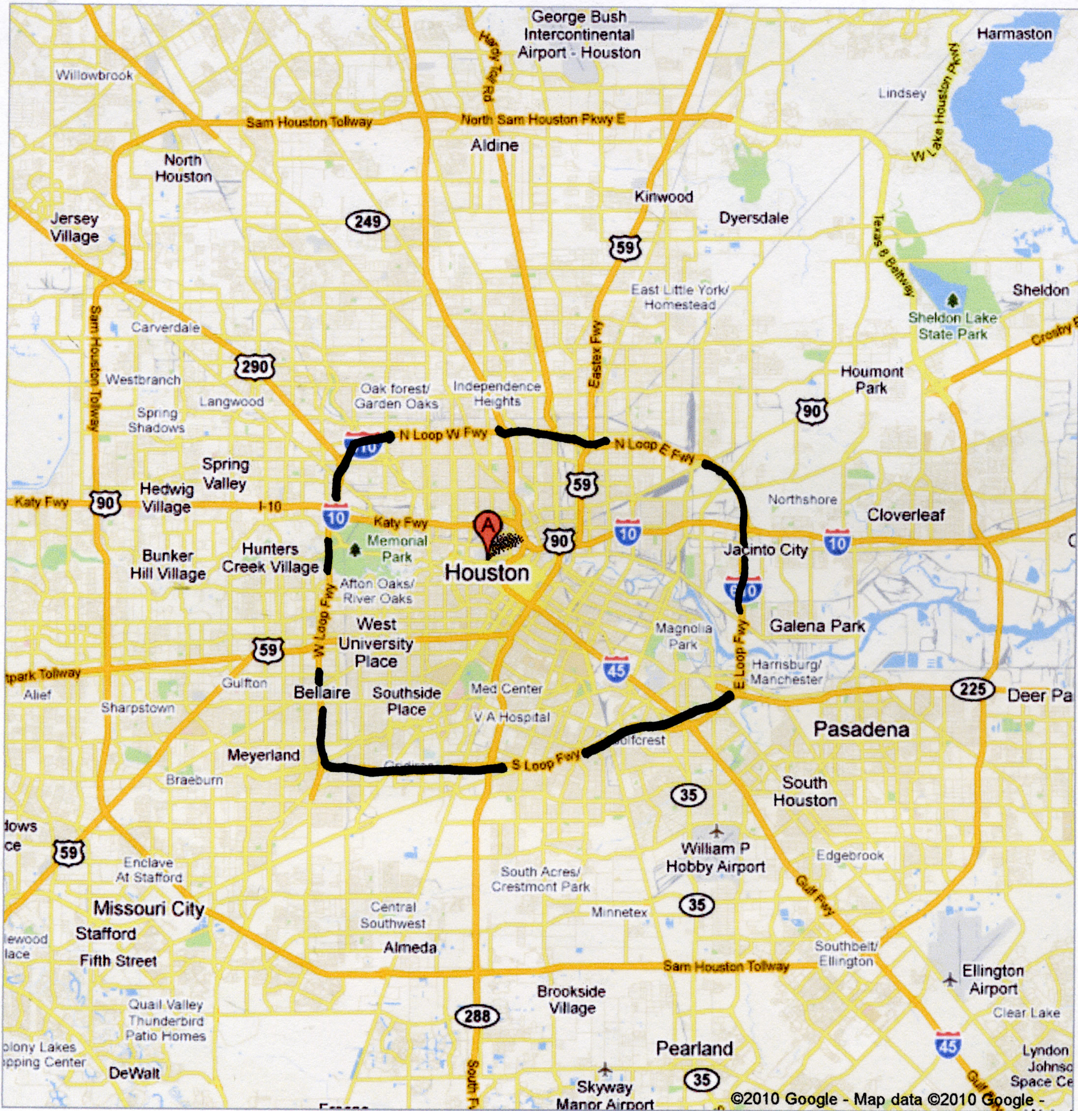 map of houston Map Pictures