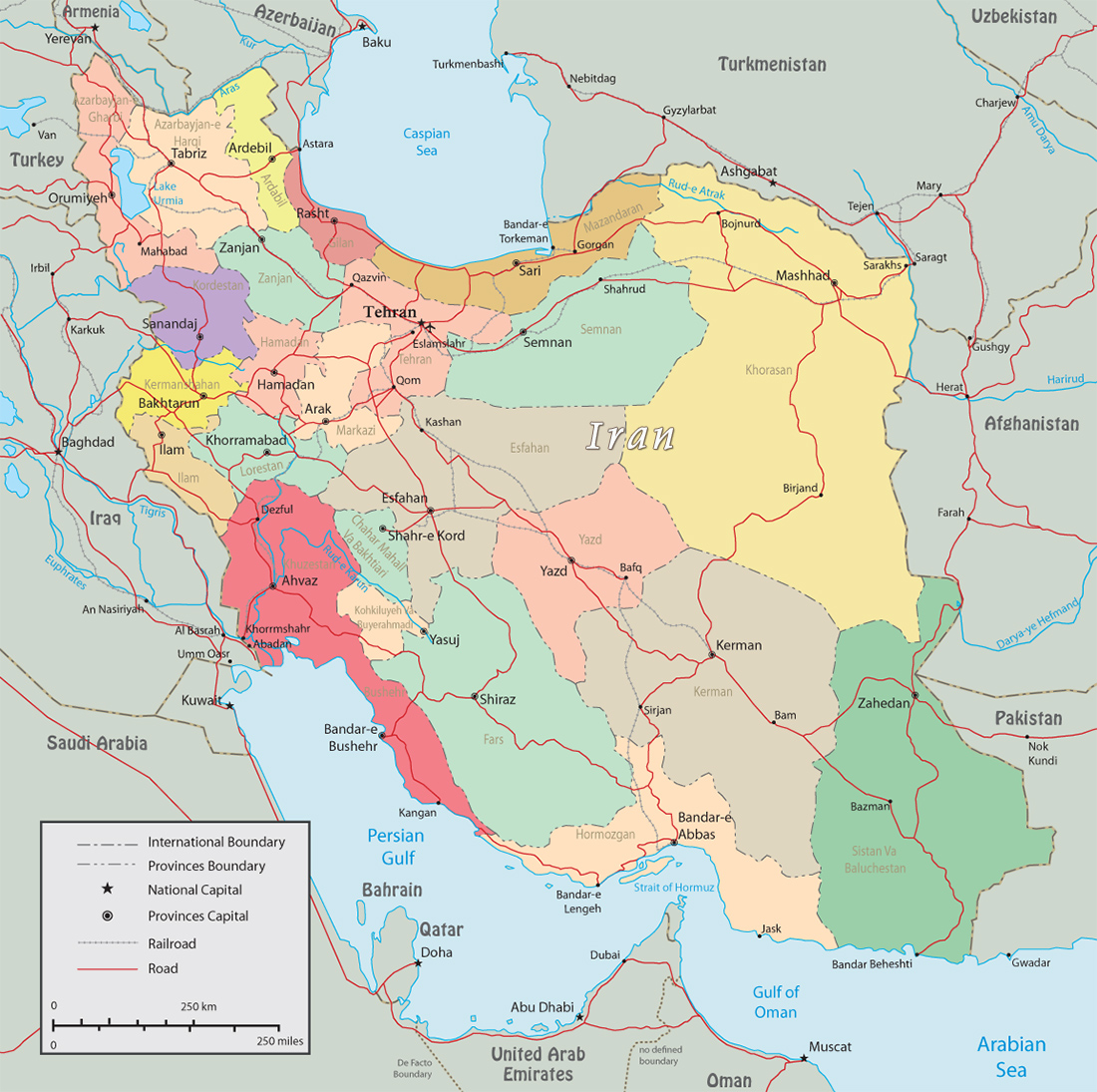 Political Map Of Iran Map Pictures
