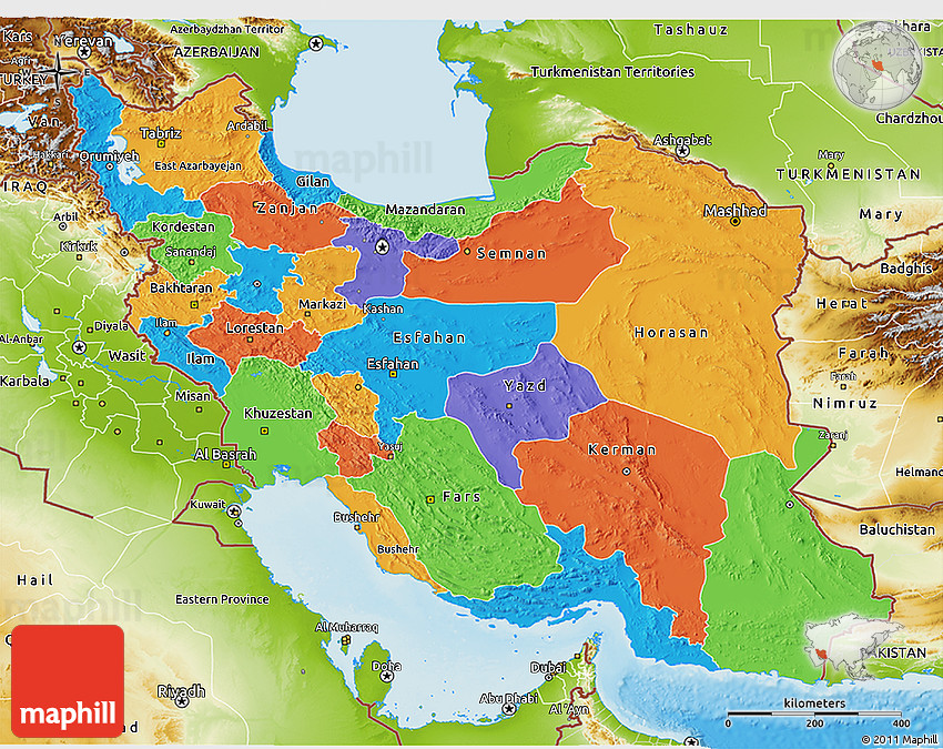 political-3d-map-of-iran-physical-outside