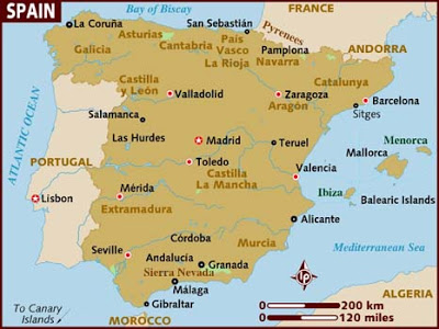 Spain Map Pictures Photos