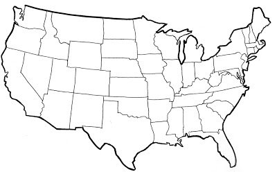 USA Map Photos - Us map not labeled