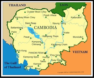Map of Cambodia Map Region