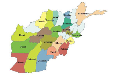 Map of Afghanistan Map Region