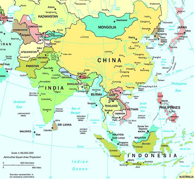 Map of Asia image - Asia Maps - Satellite Images of Asia Map Asie on bangladesh map, religion map, portugal map, nature map, afrique map, africa map, voyage map, europe map, iran map,