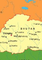 Map of Bhutan Map Region