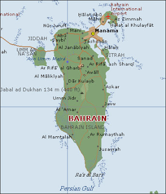 Map of Bahrain Map Region