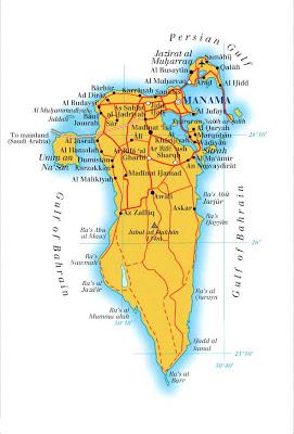 Map of Bahrein