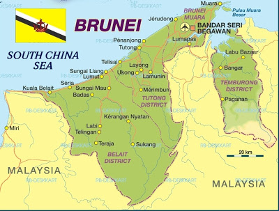 Map of Brunei Map Region