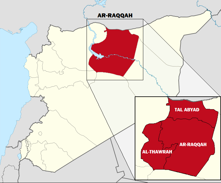 map of ar-raqqah