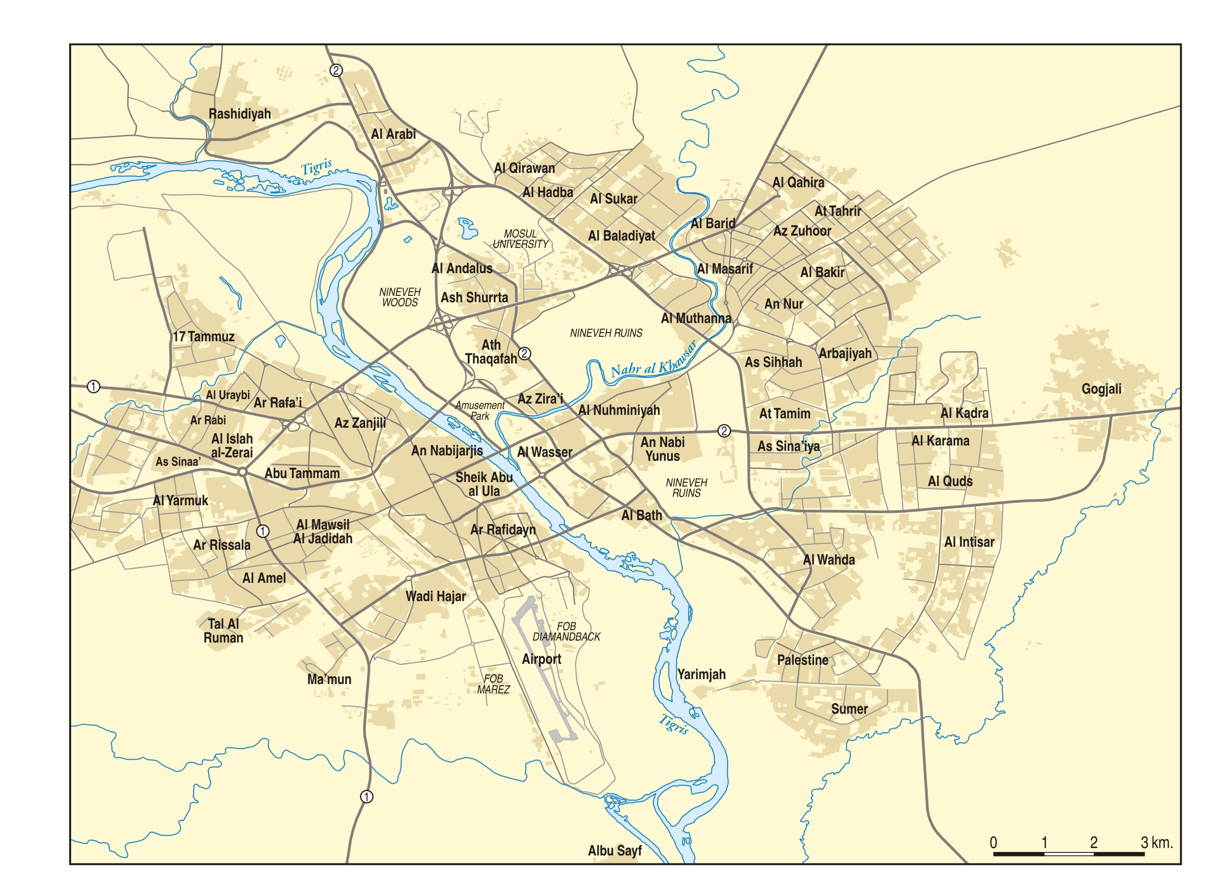 Mosul Iraq Map mosul map   Middle East Maps   Map Pictures Mosul Iraq Map