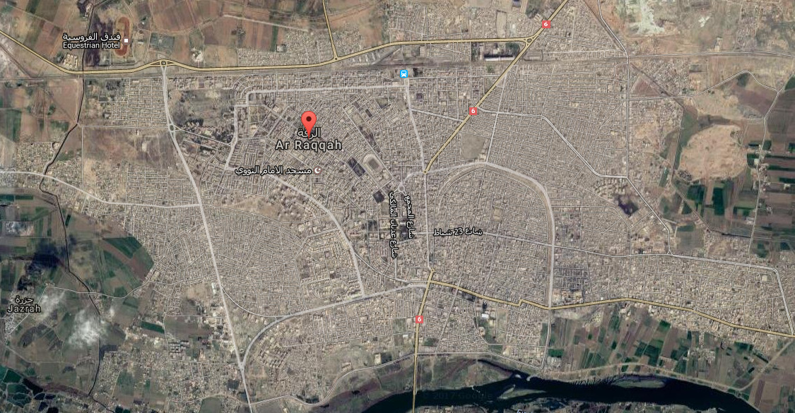 Map Of Ar Raqqah Middle East Maps Map Pictures