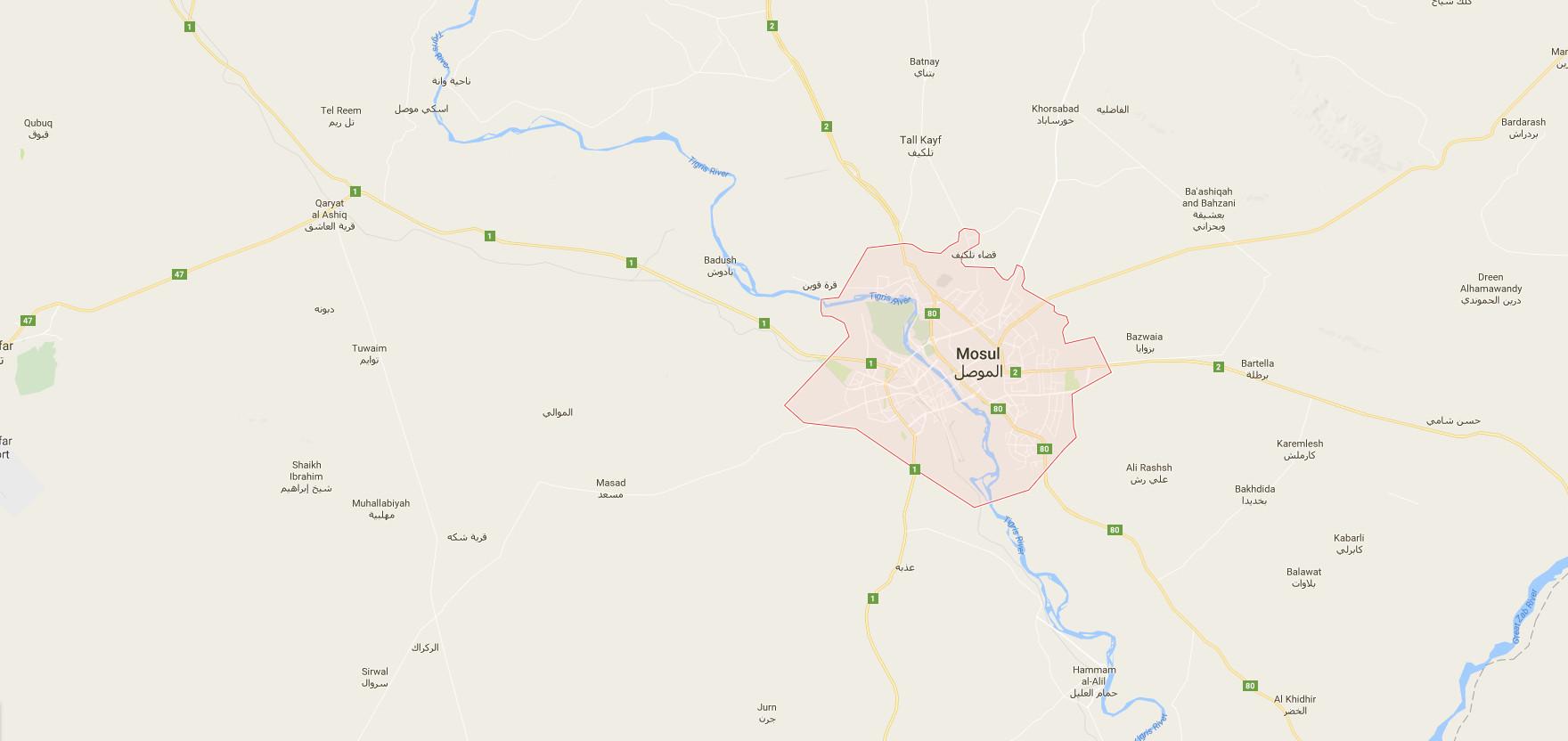 map of musul