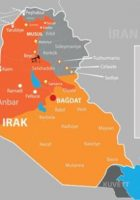 War map of Iraq and Kurdish regional government