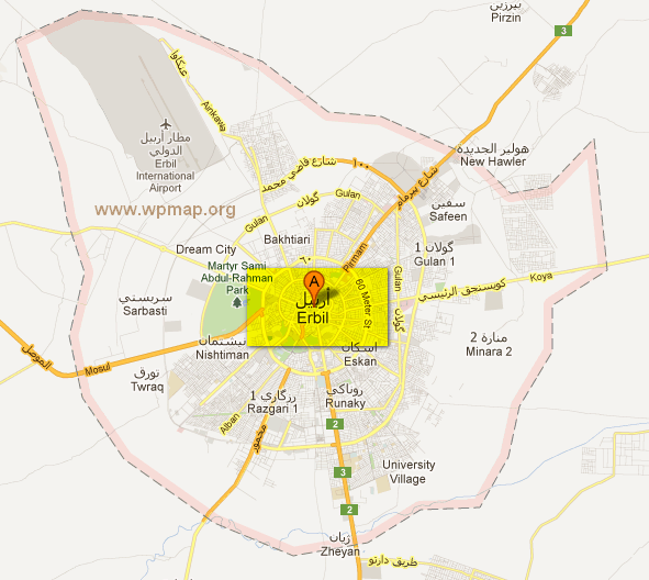 map of erbil - Middle East Maps - Satellite Images of erbil