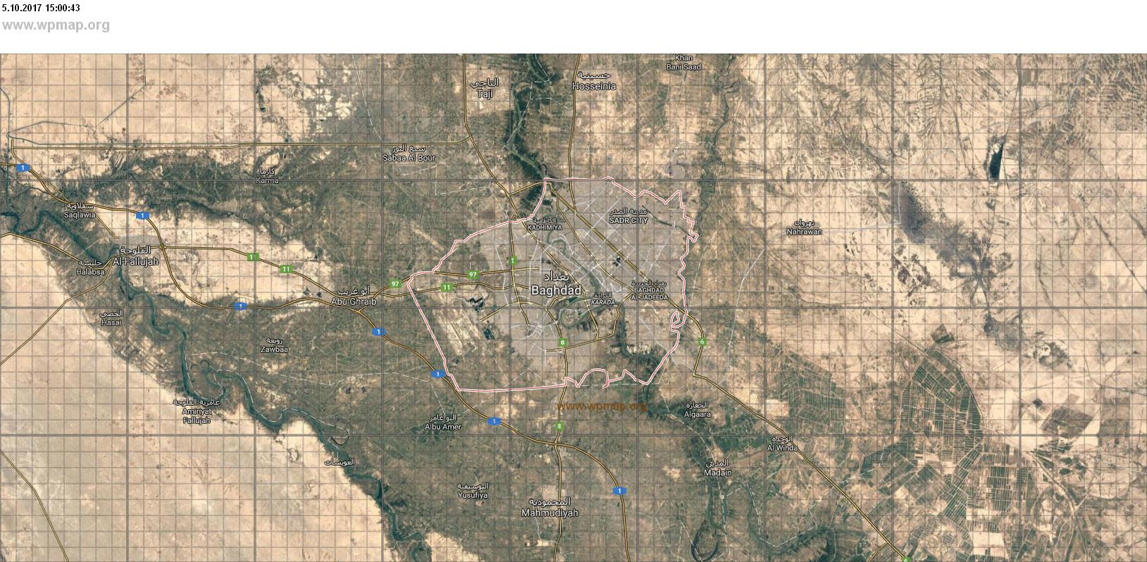 map of baghdad