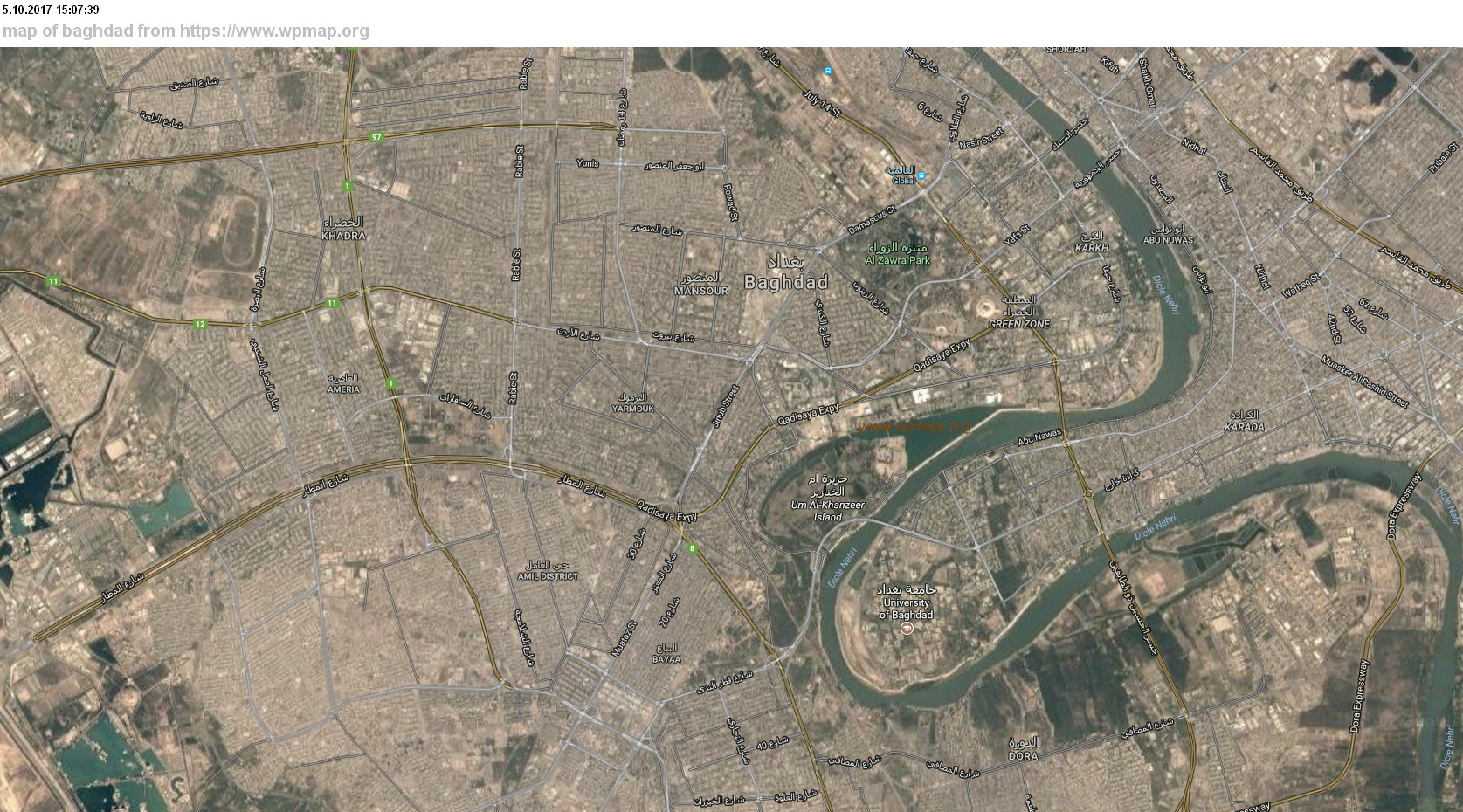map of baghdad