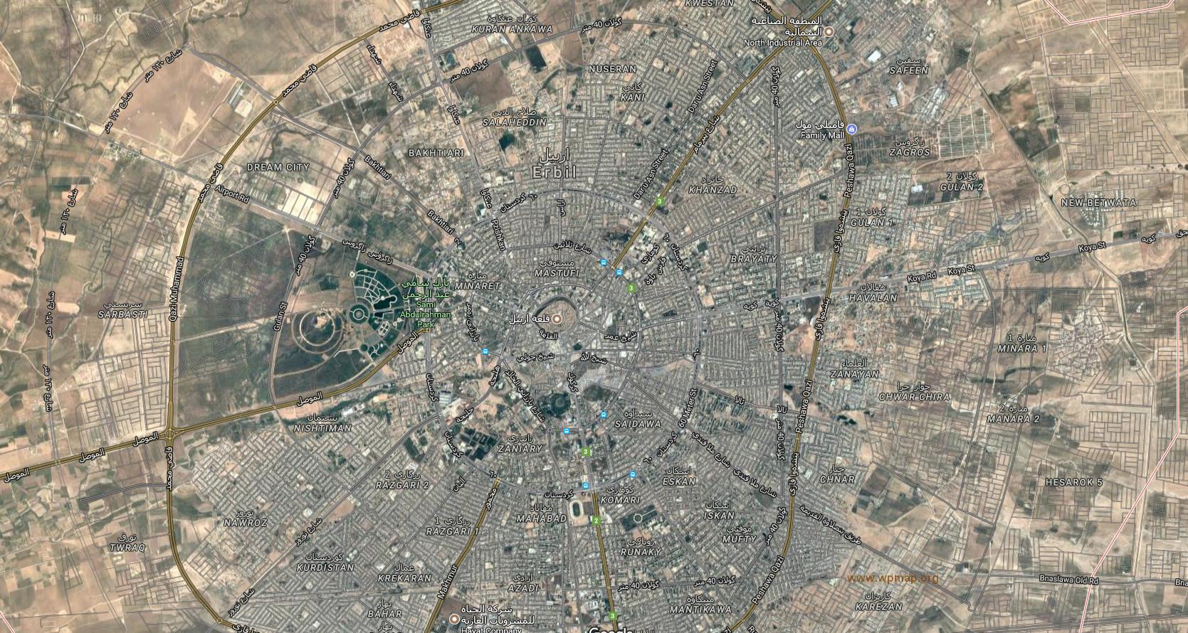 erbil map