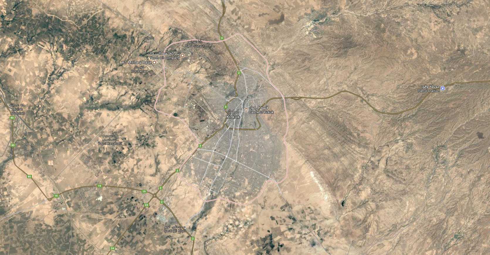 map of kirkuk
