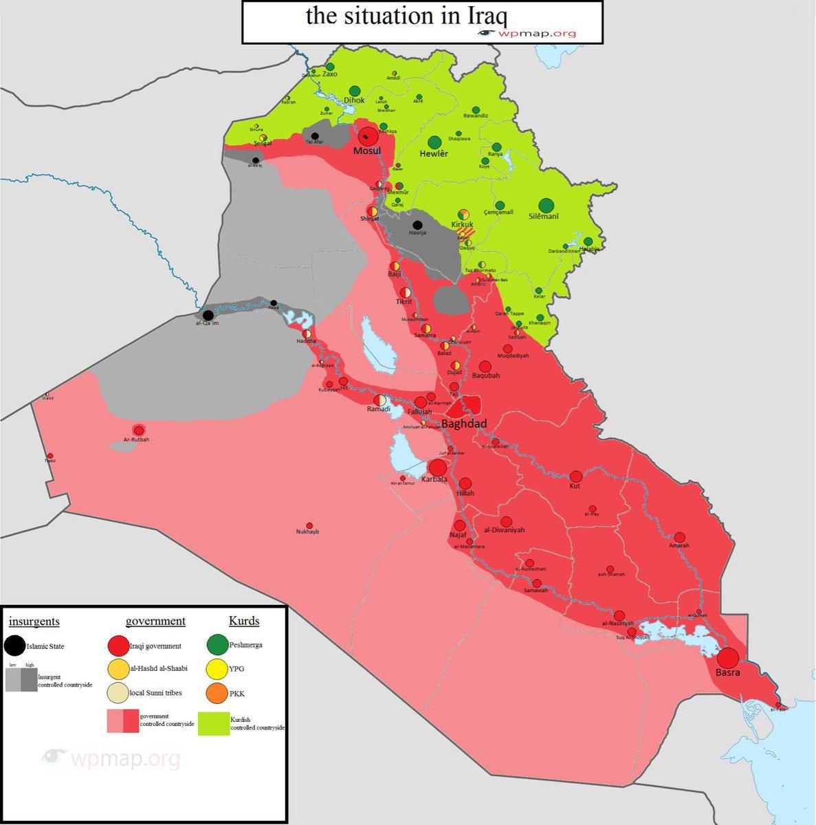 peshmerga and Hashd al Shabi war map