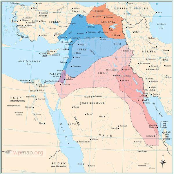 war map in Iraq