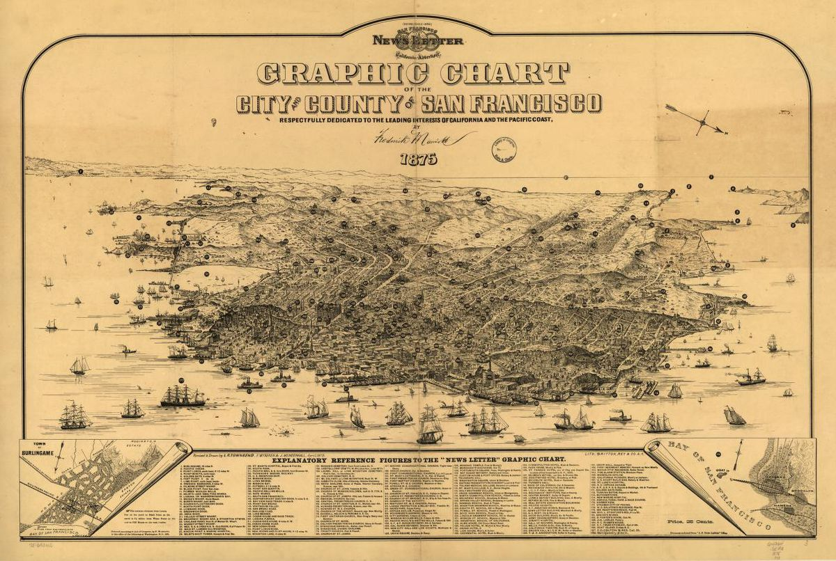 Old Maps of San Francisco 1   Map Pictures
