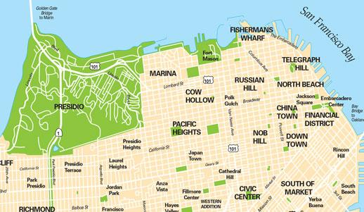 San-Francisco-Neighborhoods-Districts-Map