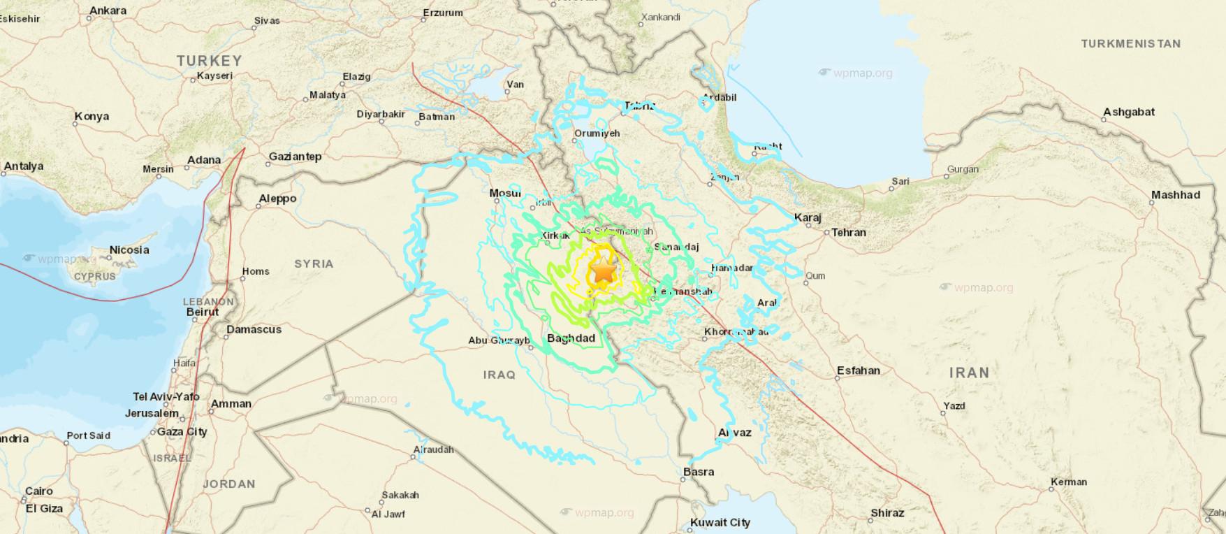 magnitude 72 quake shakes iraqs sulaymaniyah