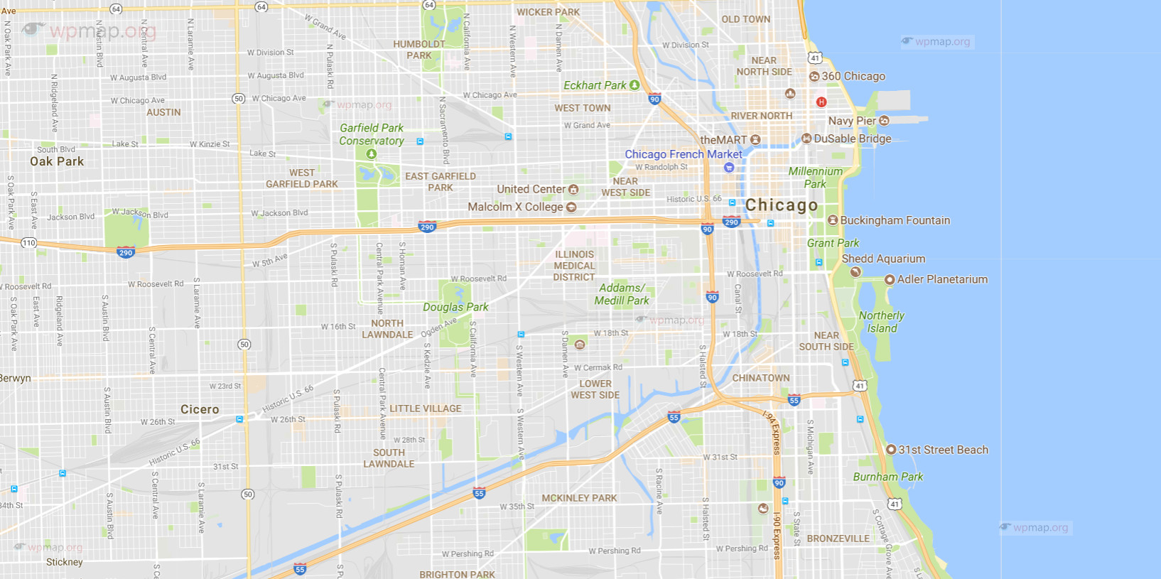graphic regarding Printable Map of Chicago identified as Map of Chicago - Printable Map of Chicago - Chicago Map United states